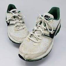 Nike Zoom Pegasus + 29 Team Sneakers 525147 Summit Mens White Green Stripe Sz 11
