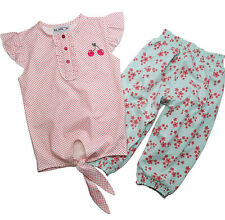 Knoten T-Shirt 3/4-Hose Gr.140 Gelati NEU rosa blau kirsche set kinder sommer