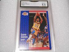 Magic Johnson GRADED CARD! 1991 Fleer #100 Lakers HOFer! 8.5-1!