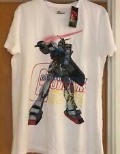 Official Anime Gundam Mobile Suit Gundam - Primark Licensed Mens White T-Shirt L