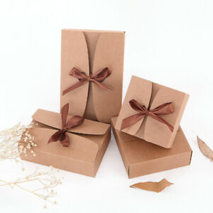 10pcs Large Size Kraft Cake Gift Heart Candy Wedding Party Rustic Boxes US