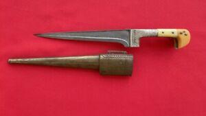 Antique Afghan Persian Wootz Choora Dagger Knife Pesh Kabz Khyber Armor Piercing