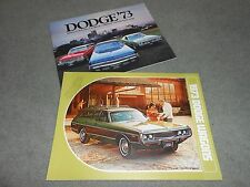 1973 DODGE STATION WAGONS  CATALOG + 40 Page FULL-LINE '73 BROCHURE, 2 For 1