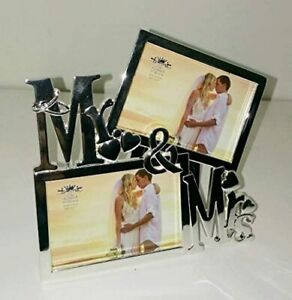 Leonardo Collection Mr and Mrs Silver Plated Photo Frame