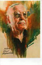 Stan Lee Autographed Poster Print by Joe Rubinstein, Marvel Artist