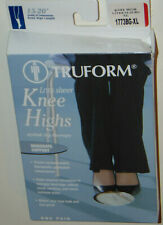 NEW TRUFORM 1773 COMPRESSION STOCKINGS, KNEE HIGH, 15-20 mmhg! BEIGE! XL