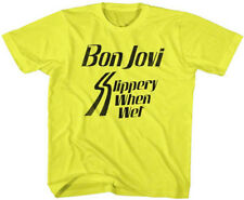 Bon Jovi-Slippery When Wet Logo-4T Children's Toddler Yellow T-shirt