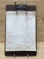 Blackburn 1934 Handwritten Expense Cash Summary Record  Form Collectible Antique