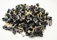 1200 Pieces Single Black Flex Grip Clips Strain Relief Screw RG6 RG59 Coax Cable