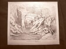 Incisione di Gustave Dorè del 1890 Demoni e Barattieri Divina Commedia Inferno