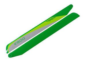 KBDD 550mm FBL White / Lime / Yellow Carbon Fiber Main Rotor Blades - Trex 550