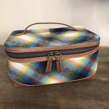 Pendelton Wool Travel Makeup Shaving Kit Bag Wool & Leather