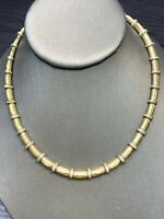LadiesVintage High-Quality Signed Napier Silver Gold Link  Necklace 14""