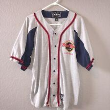 Vtg Hard Rock Hotel Las Vegas Baseball Jersey Gray Mens Large Save The Planet