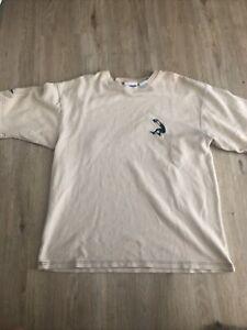 VTG 1990s Shaquille O'Neal Reebok Beige Thermal Shirt Medium Shaq Embroidered