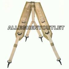US Military Alice LC-2 Desert Tan Coyote LBE Y Shoulder Straps Suspenders NEW