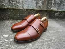 CHEANEY DOUBLE MONK STRAP – BROWN / TAN - UK 9 – WORN ONCE