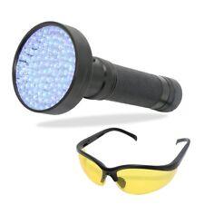 100 LED UV Ultra Violet 395nm Flashlight Urine Detector Torch Blacklight Finder