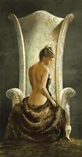 Ron di Scenza: Lovely Lady Mädchen Akt Fertig-Bild 50x100 Wandbild
