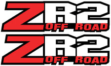 "ZR2 off road chevy GMC RACING Silverado truck decal sticker 12.5""x3.5"" set of 2B"