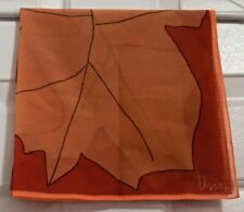 """TERRIART Autumn Leaves on Pink Background 21"""" Square Scarf-Vintage - VERA"""