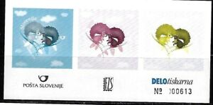 Slovenia: 2010; Scott 824, color proof, essay, in sheet of 3 stamps, EBSV03