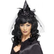 sorcière Chapeau femmes déguisementlacet Halloween sorcières CHAPEAU NOIR
