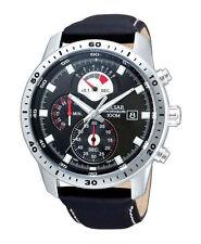 Pulsar Uhr Sport PS6027X1 Chronograph Datum Lederband Schwarz 100 ATM