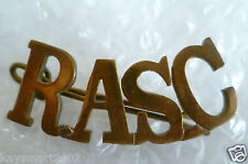 Royal Army Service Corps Shoulder Title Badge- RASC Title Badge (Brass)