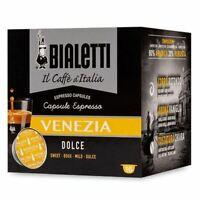 64 CAPSULE ALLUMINIO BIALETTI MOKESPRESSO I CAFFE' D'ITALIA VENEZIA ORIGINALI