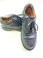 Clarks Unstructured Black Leather Lace Up Oxford Shoes 16729 Mens Size 8 Black