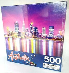 Perth City WA Australia 500 Pce Puzzle Suit 3+ years 46 cm x 61 cm NEW!