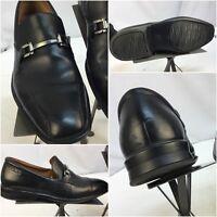 Clark Loafers Shoes Sz 8.5 Men Black Horse Bit Leather Worn Twice YGI A8