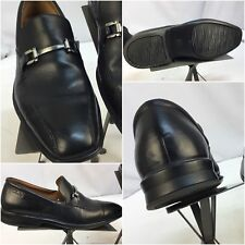Clark Loafers Shoes Sz 8.5 Men Black Horse Bit Leather Worn Twice YGI A8