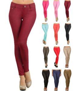 Basic Five Pockets Stretch Jegging Tights Pants S ~ 3XL