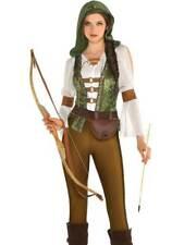 Ladies Sexy Robin Hood Huntress Fancy Dress Costume Womens Adults Medieval