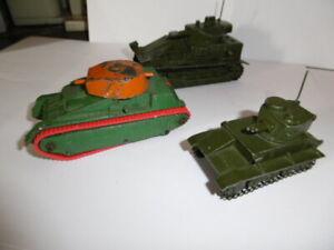 lot of 3 tanks Dinky Toys  Light, Medium and 22f