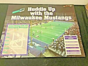 Rare New 1996 Milwaukee Mustang Arena Football Promotional Schedule Poster 22x17