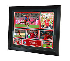 Robert Lewandowski Signed Bayern Munich photo 2015 - Memorabilia Framed