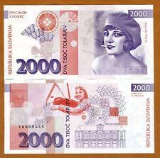 2000 Tolarjev Tolar Slovenia 2016 UNC Private Issue RARE SPECIMEN - Ita Rina