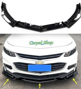 2016-2018 FOR Chevrolet Malibu ABS Front Bumper Lip Body Kit Spoiler Splitter