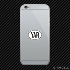 YAR Yemen Country Code Oval Cell Phone Sticker Mobile Yemeni euro