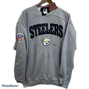 NEW Vintage 90s Starter Pittsburgh Steelers On Field Crewneck Sweatshirt Large