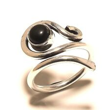 Black Onyx Silver Plated Free Shipping Ring Handmade Gemstone Jewelry