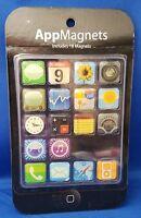18 Piece iPhone App Icon Memo Refrigerator Magnets