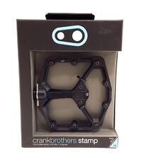 Crank Brothers STAMP Platform Mountain Bike Pedals, Large, Black