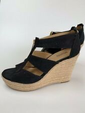 Michael Kors Damita Wedge Canvas Black Espradrille UK 5.5/ EU 38.5