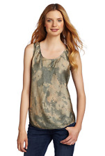 ^NWT $148 DIESEL T-MALORIE TANK TOP TAN/GREEN SLEEVELESS SMALL
