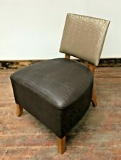 More details for gold and brown tub chair / faux crocodile skin / solid wood frame / bar / bistro