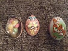 2 - Vintage Tin Easter Egg Containers Made In England